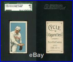 1909-1911 T206 Frank Arellanes Boston Red Sox SGC 40 Cycle 350