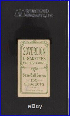 1910 T206 Cy young green portrait Sovereign 150 SGC 20 nice