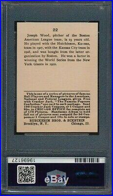 1915 CRACKER JACK Smoky Joe Wood PSA 2 absolutely spectacular! = free shipping