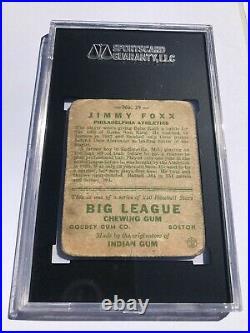 1933 Goudey # 29 JIMMY FOXX HOF SGC 1 PR = PSA 1 Boston Red Sox (1262)