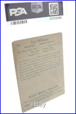 1939 Play Ball Ted Williams #92 Psa Good + 2.5