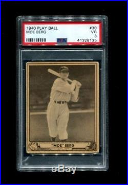Boston Red Sox 1940 Moe Berg Play Ball 30 Boston Red Sox Spy Psa 3