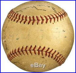 1940's BABE RUTH & TED WILLIAMS + Hall of Famers Signed PSA/DNA MLB Baseball