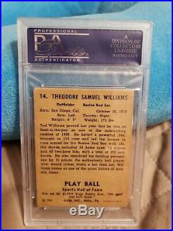 1941 Play Ball Ted Williams #14 PSA 2 GD (PWCC)