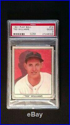 1941 Play Ball Ted Williams #14 PSA 2 Good Boston Red Sox Centered