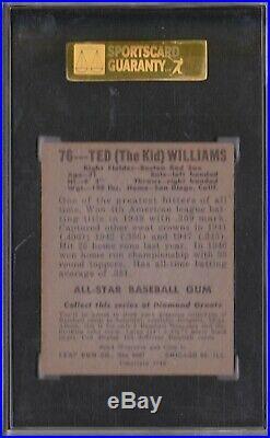 1948 Leaf #76 Ted Williams SGC 60 EX