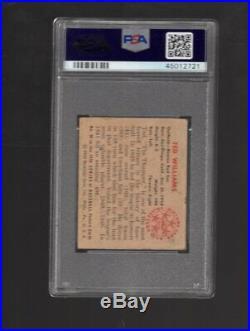 1950 Bowman #98 Ted Williams PSA 1 pr nice card
