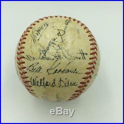 1951 Boston Red Sox Team Signed American League Baseball Ted Williams JSA COA