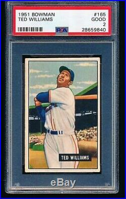 1951 Bowman TED WILLIAMS #165 PSA 2
