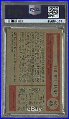 1954 Bowman #66 Ted Williams Boston Red Sox HOF PSA 4.5 THE RARITY