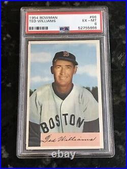 1954 Bowman TED WILLIAMS #66 PSA 6