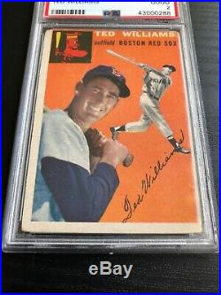 1954 TOPPS # 1 TED WILLIAMS PSA 2 GOOD HOF Boston Red Sox Superstar