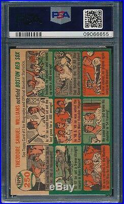 1954 Topps Baseball Ted Williams #250 PSA 9 RED SOX MINT HOF POP 10
