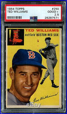 1954 Topps Ted Williams HOF #250 PSA 2.5 GOOD+