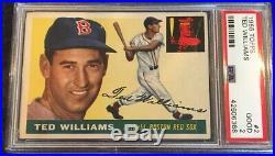 1955 Topps #2 Ted Williams PSA 2 Centered