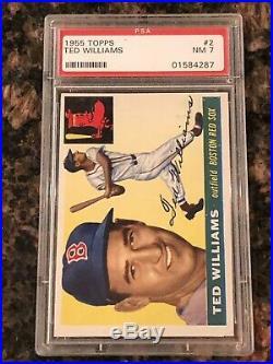 1955 Topps Ted Williams #2 Baseball Card PSA 7