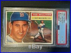 1956 Topps Gray Back #5 Ted Williams PSA EX-MT 6 #43111177 BOSTON RED SOX