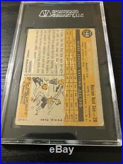 1960 Topps # 148 Carl Yastrzemski ROOKIE RC SGC 40 VG = PSA 3 HOF Red Sox