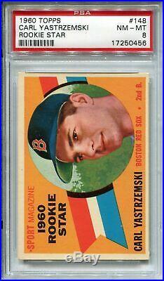 1960 Topps Baseball #148 Carl Yastrzemski Rookie Card RC PSA 8