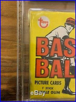 1968 Topps Baseball Series 1 Wax Pack GAI Graded. PSA 10 Safe GAI Serial #