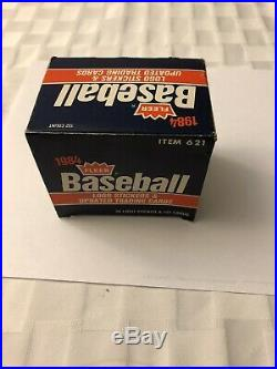 1984 Fleer Baseball Update Set Clemens, Puckett, Gooden, Logo Stickers Complete