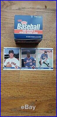 1984 Fleer Baseball Update Set Clemens, Puckett & Gooden Rookie Super Nice