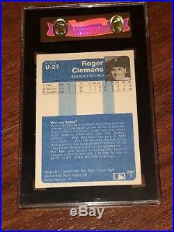1984 Fleer Update #u-27 Roger Clemens Graded Sgc 96 Mint 9 Rc Rookie Card