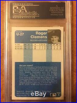 1984 Fleer Updated #U-27 Roger Clemens Rookie Card PSA 10 GEM MINT See Descipt