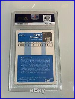 1984 Fleer Updated #U-27 Roger Clemens Rookie Card RC PSA 10 GEM MINT