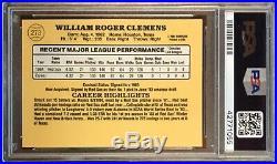 1985 Donruss #273 Roger Clemens RC Rookie PSA 10 Gem Mint