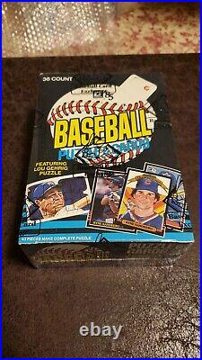 1985 Donruss Baseball Unopened Wax Box BBCE Clemens, Puckett RC