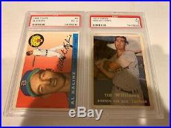 2- Card Lot- 1957 Topps Ted WIlliams/1955 Topps Al Kaline- PSA