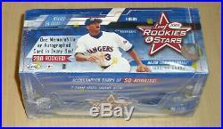 2001 01 Leaf Rookies and Stars factory sealed baseball hobby box