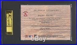 2001 Fleer Red Sox 100th Babe Ruth Splendid Splinters Game Bat /100 SGC 96