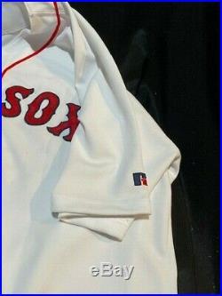 2004 Manny Ramirez Boston Red Sox Game Used Home Jersey -Championship Year LOA