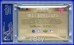2005 UD HOF Cooperstown Cut Signature Dizzy Dean Auto Cut Autograph PSA DNA