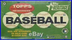 2011 Topps Heritage Factory Sealed Baseball Hobby Box Chris Sale RC