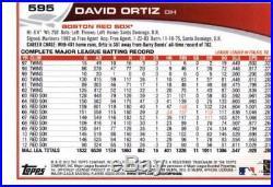 2013 Topps #595b David Ortiz Red Sox Giving Speech NM-MT (SP Short Print)