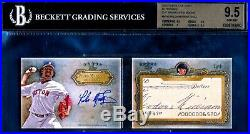 2013 Topps Five Star Auto Cut Book Pedro Martinez Ted Williams #1/1 HOF Red Sox