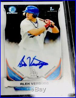 2014 Bowman Chrome Alex Verdugo Rc Auto Boston Red Sox Rookie Autograph Mint