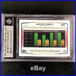 2014 Bowman Chrome Draft Michael Chavis Superfractor 1/1 Card BGS 9 MINT Red Sox