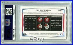 2014 Bowman Draft Rafael Devers Purple Ice RC 29/99 PSA 10 Gem Mint (CBF)