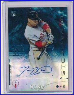 2014 Bowman Sterling Blue Ref Mookie Betts #BSRA-MB Autograph RC /25 SSP Auto