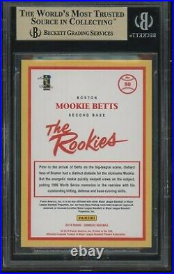 2014 donruss the rookies MOOKIE BETTS rookie BGS 10 pristine pop 3