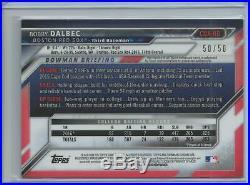 2016 Bowman Chrome Draft Bobby Dalbec Gold Refractor Auto 50/50 Boston Red Sox