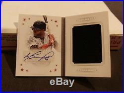 2016 National Treasures STARS David Ortiz Red Sox Jumbo Jersey Auto Booklet /10