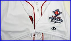 2017 Boston Red Sox Robbie Ross Jr. #28 Game Issued White Jersey RSF Patch