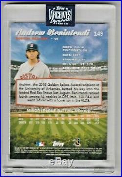 2017 Stadium Club Andrew Benintendi RC Auto 1/1 2020 Archives Signature Red Sox