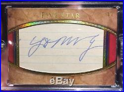 2017 Topps Five Star CY YOUNG AUTO 1/1 Legendary Cuts Signature Autograph SP SSP