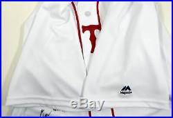 2018 Boston Red Sox Marcus Walden #64 Game Issued White Patriots Day Jersey